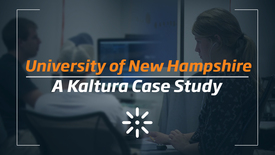 Thumbnail for entry Active Learning With Video at UNH | Kaltura Case Study