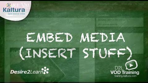 Thumbnail for entry Embed Media | BrightSpace Tutorial