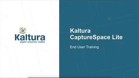 Thumbnail for entry CaptureSpace Lite  End-User Training Webinar