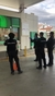 BP retail staff applaud Malaga police officers