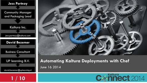 Thumbnail for entry Configuring and Automating Your Kaltura Video Platform with Chef