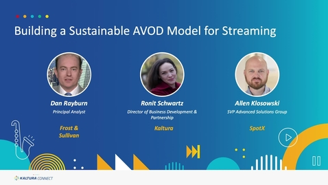 Thumbnail for entry Building a Sustainable AVOD Model for Streaming