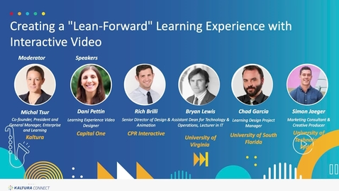 Thumbnail for entry Creating a Lean Forward Learning Experience with Interactive Video