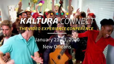 Thumbnail for entry Kaltura Connect 2020 Official Teaser: What's the Excitement About?