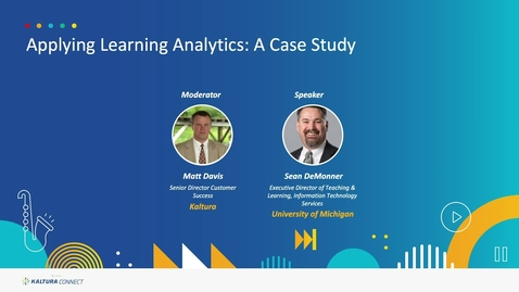 Thumbnail for entry Applying Learning Analytics