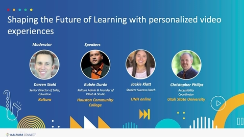 Thumbnail for entry Shaping the Future of Learning with Personalized Video Experiences