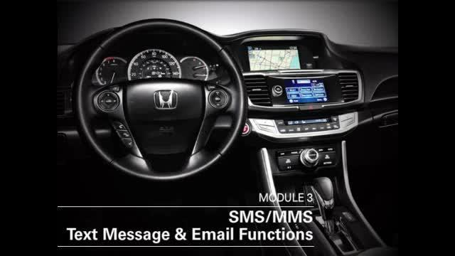 hondalink sms text message email functions 2016 honda odyssey