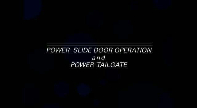Power Sliding Doors And Tailgate 2012 Honda Odyssey Honda Owners