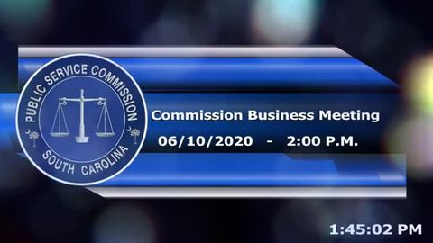 still of video titled 6/10/2020 - Commission Business Meeting