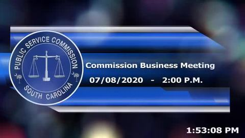 still of video titled 7/8/2020 - Commission Business Meeting
