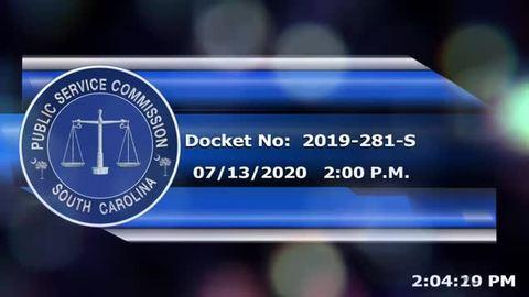 still of video titled 07/13/2020  - Docket No: 2019-281-S