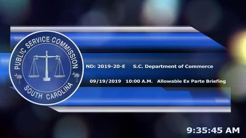 still of video titled 9/19/19 - Allowable Ex Parte Briefing