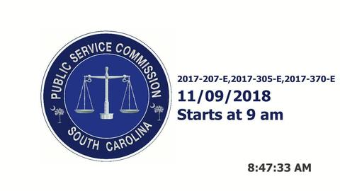 still of video titled Part 1 - 11/9/18 - SCE&G Company Hearings