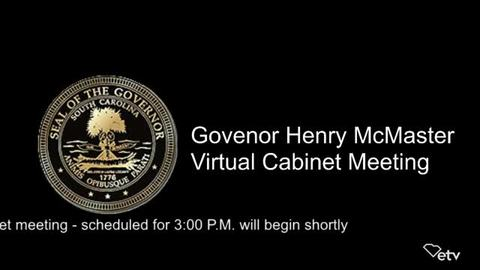 still of video titled Governor's Cabinet Meeting August 20, 2020