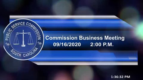 still of video titled 9/16/2020 - Commission Business Meeting