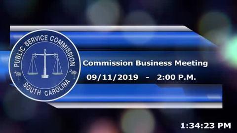 still of video titled 9/11/19 - Public Service Commission Business Meeting