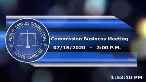still of video titled 07/15/2020 - Commission Business Meeting