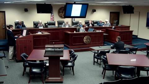 still of video titled 09/19/2018 - Public Service Commission Business Meeting