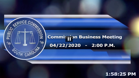 still of video titled 4/22/2020 - Commission Business Meeting