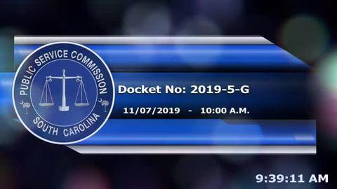 still of video titled 11/7/19 - Docket 2019-5-G