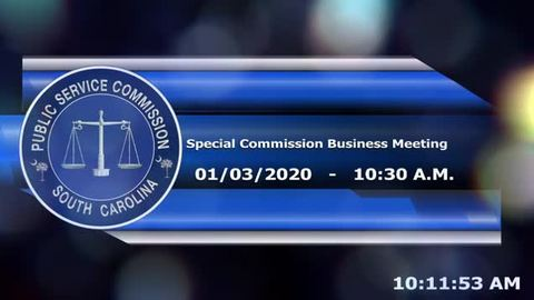 still of video titled 1/3/2020 - Special Commission Business Meeting