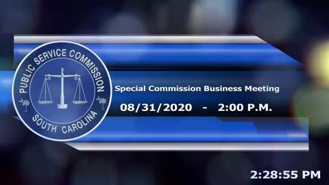 still of video titled 8/31/2020 - Special Commission Business Meeting