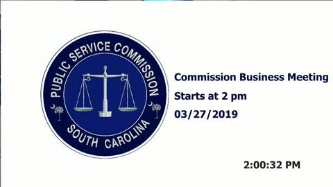 still of video titled 3/27/19  - Public Service Commission Business Meeting