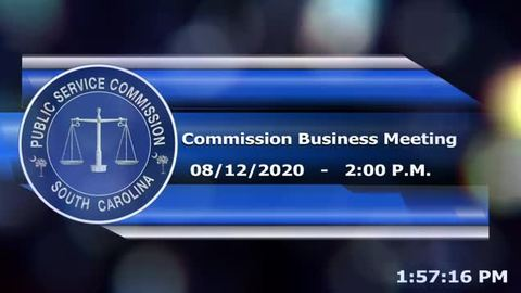 still of video titled 8/12/2020 - Commission Business Meeting