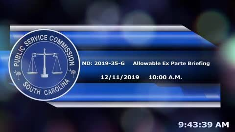 still of video titled 12/11/19 -  ND-2019-35-G Allowable Ex Parte Briefing