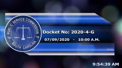 still of video titled 7/9/2020 - Docket No. 2020-4-G