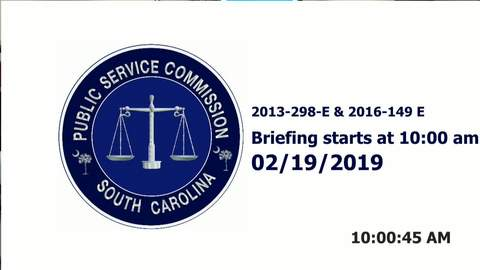still of video titled 2/19/2019 - Public Service Commission Hearings