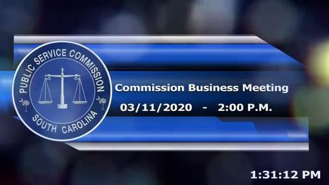 still of video titled 3/11/2020 - Commission Business Meeting