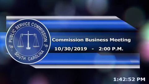 still of video titled 10/30/19 - Public Service Commission Business Meeting