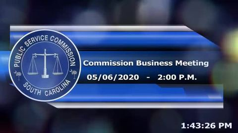 still of video titled 05/06/2020 - Commission Business Meeting