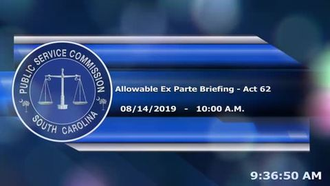 still of video titled 8/14/19 - Allowable Ex Parte Briefing