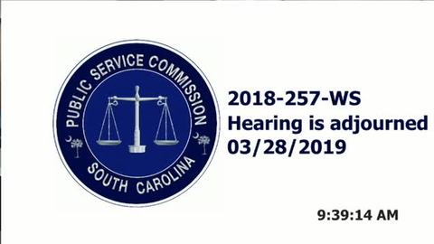 still of video titled 3/28/19 2018- 257-WS Public Service Commission Hearing