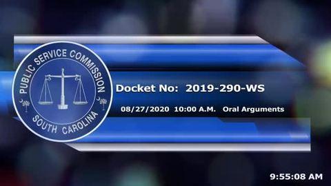 still of video titled 8/27/2020 - Docket No. 2019-290-WS