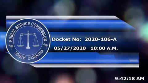 still of video titled 5/27/2020 - Docket No: 2020-106-A