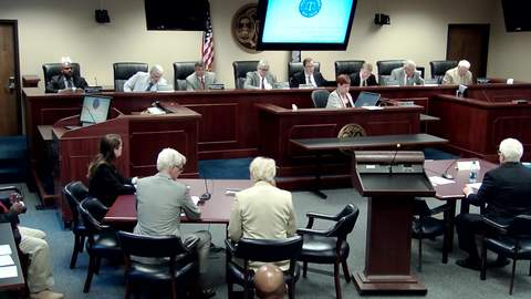 still of video titled 9/4/2018 - Public Service Commission Hearing