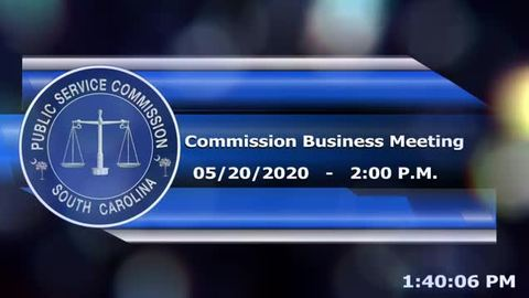 still of video titled 5/20/2020 - Commission Business Meeting