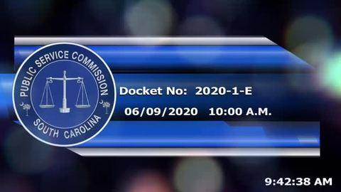 still of video titled 6/9/2020 - Docket No:  2020-1-E