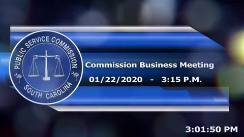 still of video titled 1/22/2020 - Commission Business Meeting