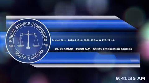 still of video titled 10/6/2020 - Docket No. 2020-219-A, 2020-220-A, 2020-221-A