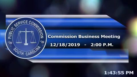 still of video titled 12/18/19 - Commission Business Meeting