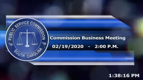 still of video titled 2/19/2020 - Commission Business Meeting