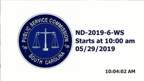 still of video titled 5/29/19 - ND-2019-6-WS Public Service Commission Hearing