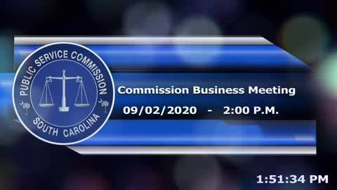 still of video titled 9/2/2020 - Commission Business Meeting