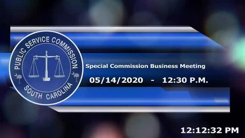 still of video titled 05/14/2020 - Special Commission Business Meeting