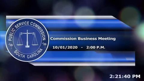 still of video titled 10/1/2020 - Commission Business Meeting