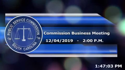 still of video titled 12/4/19 Public Service Commission Business Meeting